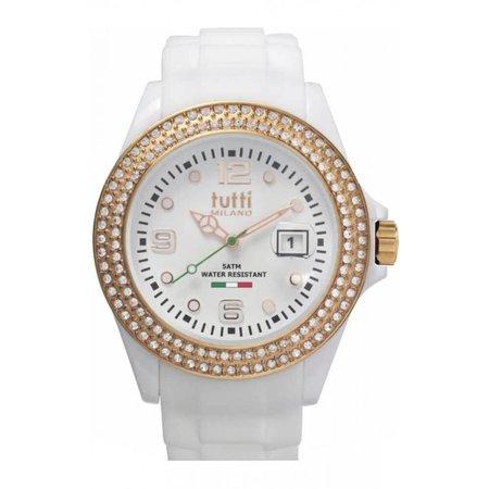 Tutti Milano Cristallo Horloge wit TM003 WH/RO/Z
