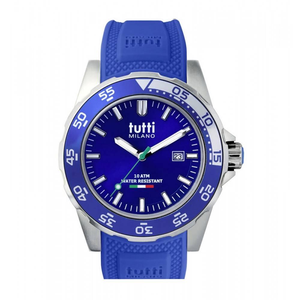Tutti Milano Corallo Horloge blauw TM900 BL