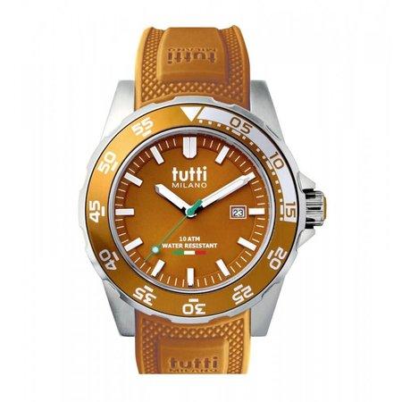 Tutti Milano Corallo Horloge bruin TM900 BR