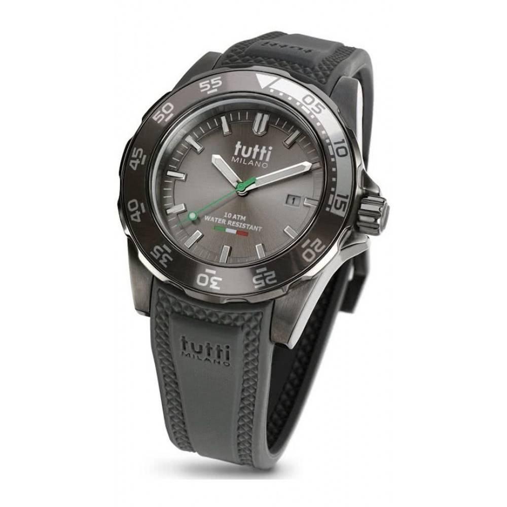 Tutti Milano Corallo Horloge grijs TM900 TP