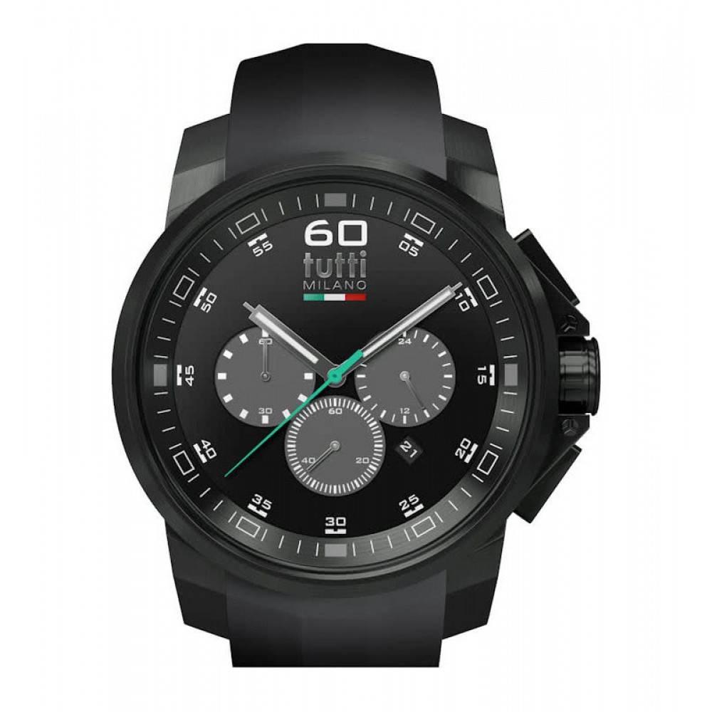 Tutti Milano Masso XL Chronograaf Horloge zwart TM501 NO/NO