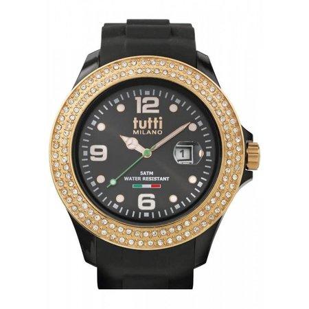 Tutti Milano Cristallo XL Horloge zwart TM004 NO/RO/Z