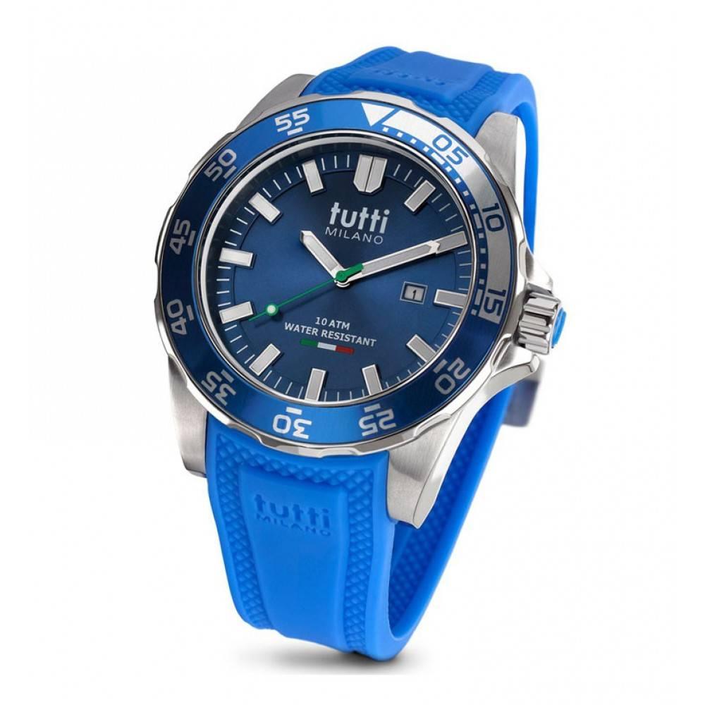 Tutti Milano Corallo XL Horloge blauw TM901 BL