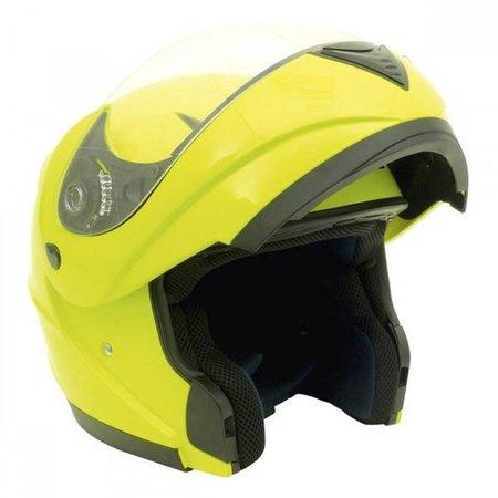 MotorX Flip Up motorhelm fluor glanzend L E9