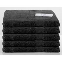 Handdoek zwart 5-pak