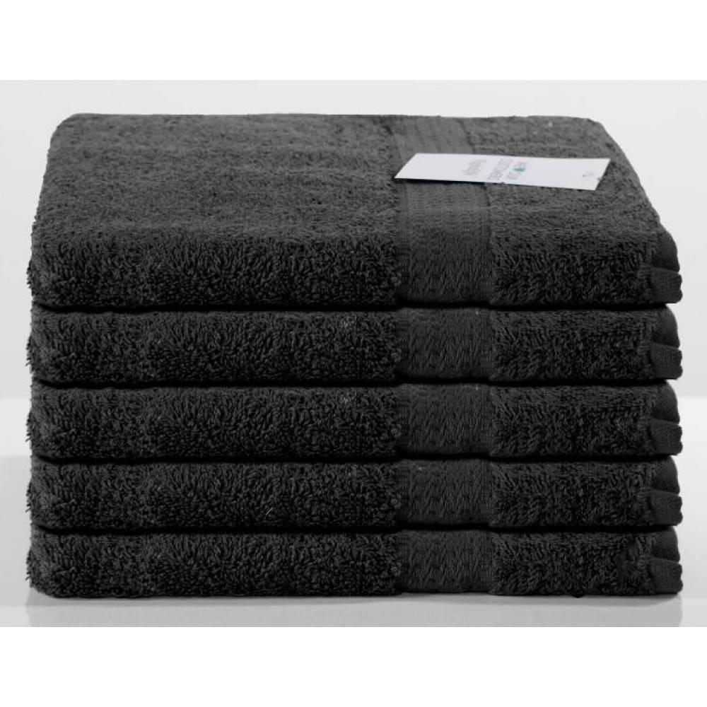 Nightlife Handdoek zwart 5-pak