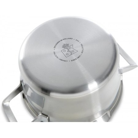 BK RVS Premium+ Soeppan met glazen deksel Ø24 cm