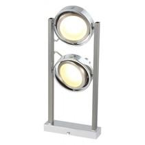 Dubbele chrome LED hanglamp of vloerlamp Baroni