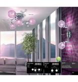 Globo Plafondlamp halogeen voor in de gang chroom violet 56103-2