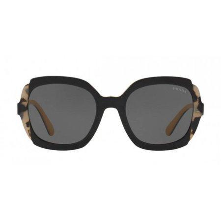 Prada zonnebril zwart met oker binnenzijde PR 16US CC01A1