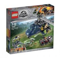Jurassic World helikopterachtervolging van Blue