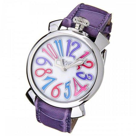 GaGa Milano Manuale horloge 40mm lederen croco print 5020.07