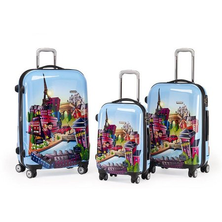 Claymore 3 delige kofferset trolley Funny Paris WTL 6075/3FB