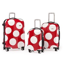 3 delige kofferset trolley Fashion Red Dots