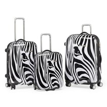 3 delige kofferset trolley Zebra
