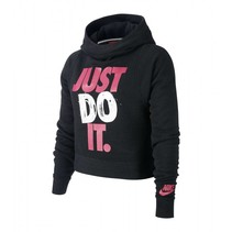 Just Do It Cropped Hoodie Junior