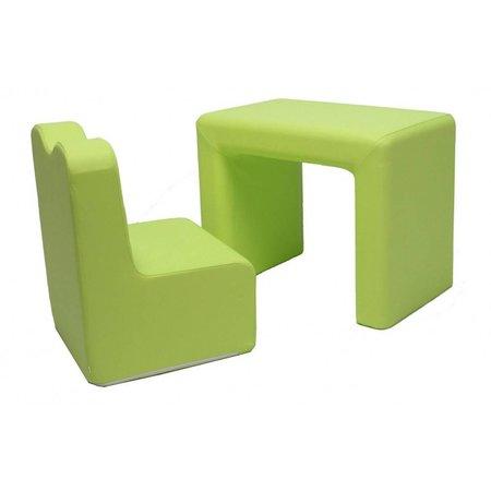Teddy de Beer bureau / fauteuil 2-in-1 set lime green EK-SB206
