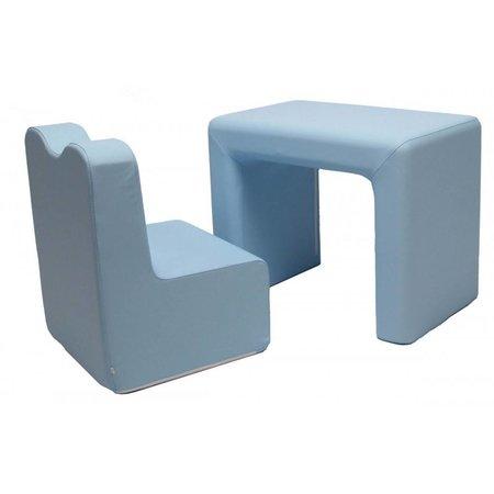 Teddy de Beer bureau / fauteuil 2-in-1 set baby blue EK-SB206