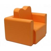 bureau / fauteuil 2-in-1 set oranje