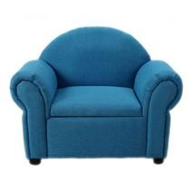 Fauteuil en opbergruimte in één blauw