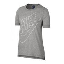 dames logo t-shirt licht grijs