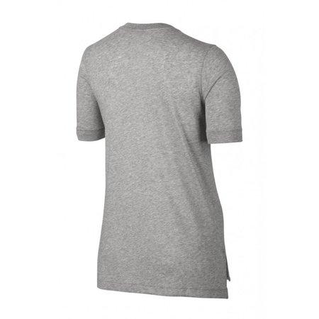 Nike dames logo t-shirt licht grijs 872120-063