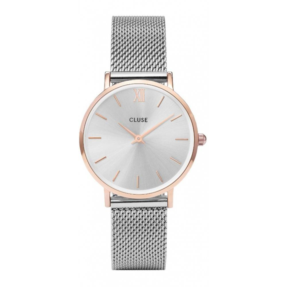 Cluse Horloge Minuit Mesh Rose Gold CL30025