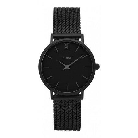 Cluse Horloge Minuit Mesh zwart CL30011