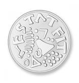 Mi Moneda Munt Amor & Mio Silver plated MON-AMO-01