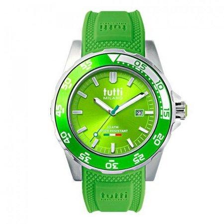Tutti Milano Corallo Horloge groen TM900 GR