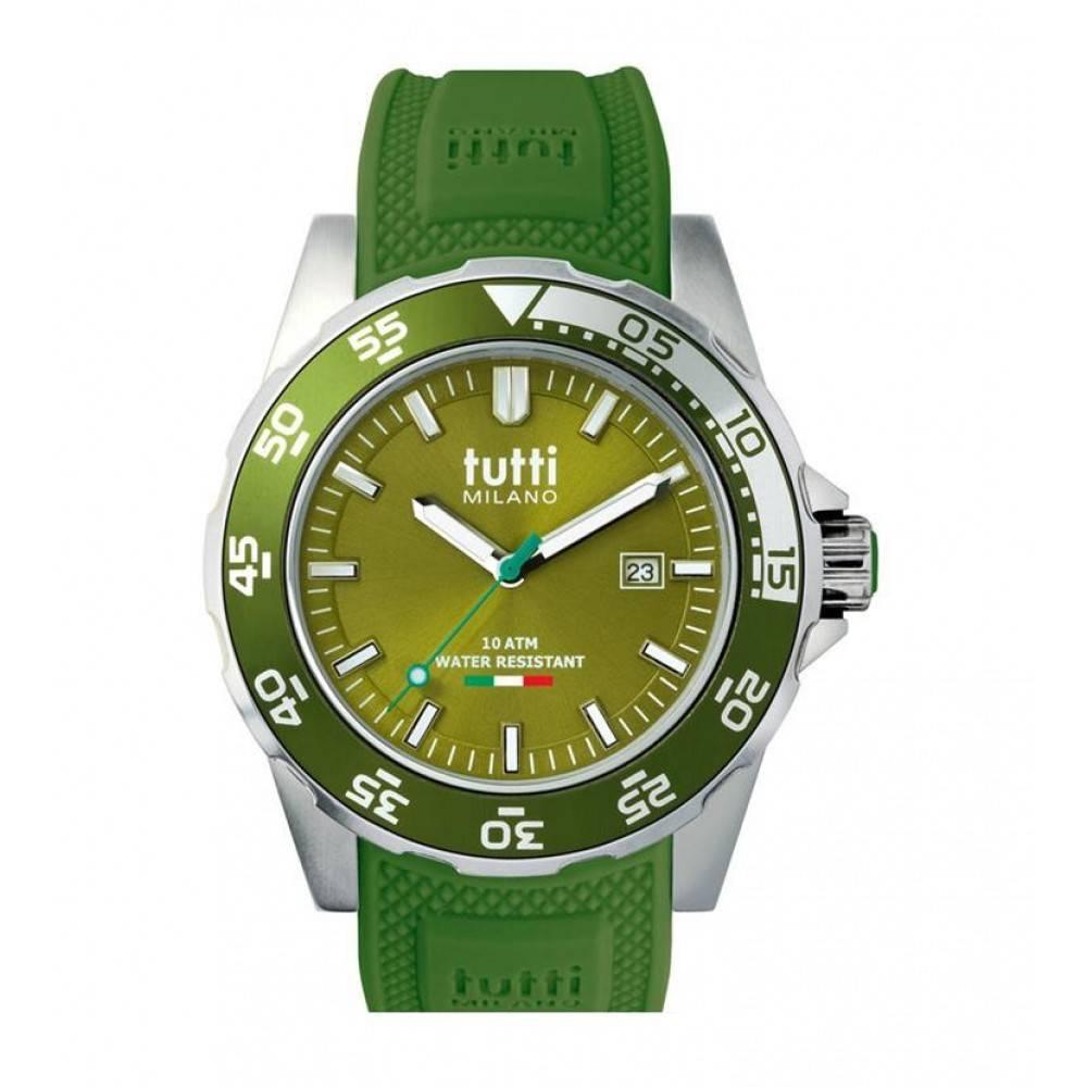 Tutti Milano Corallo Horloge army green TM900 AG