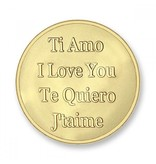 Mi Moneda Munt Baby Feet & Te Quiro Gold plated MON-BAB-02