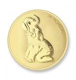 Mi Moneda Munt Elephant & Butterfly Gold plated MON-ELE-02