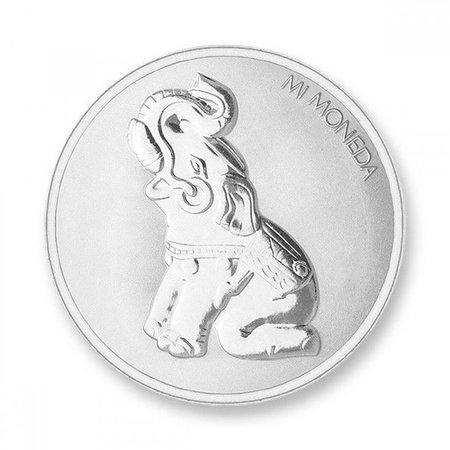Mi Moneda Munt Elephant & Butterfly Silver plated MON-ELE-01