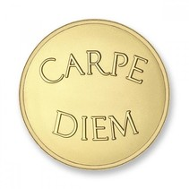 Munt Carpe Diem & Live the Live Gold plated