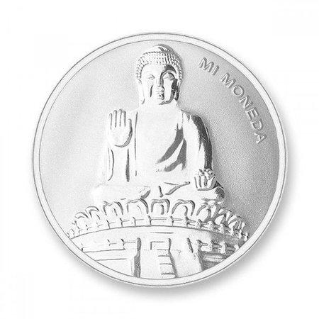 Mi Moneda Munt Budha & Budha Silver plated MON-BUD-01