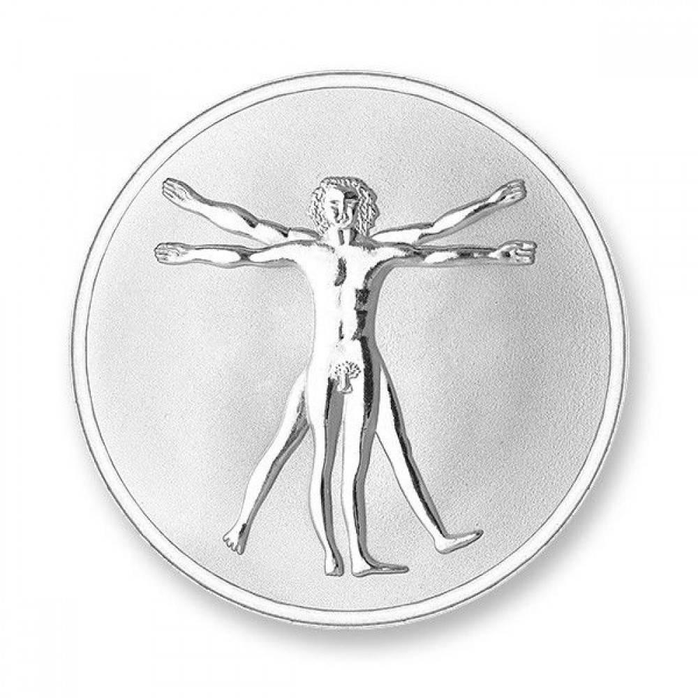 Mi Moneda Munt Vinci & Hand Silver plated MON-DAV-01