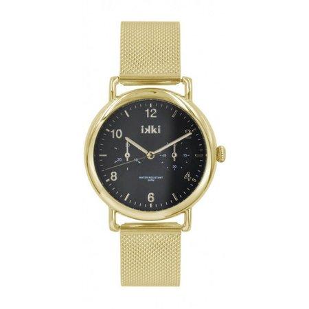 IKKI Liz Gold/Black Horloge LI03