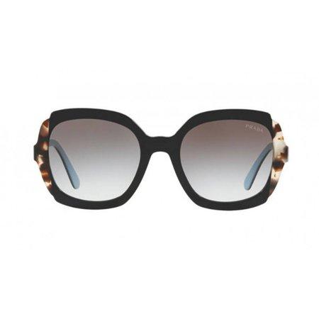 Prada zonnebril Black Azure / Spotted Brown PR 16US KHR0A7