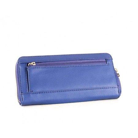 Guess Felix Lrg dames portemonnee blauw SWVG6876460/BLU