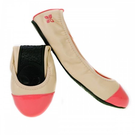 Butterfly Twists Nicola opvouwbare ballerina nude/coral BT1004-006