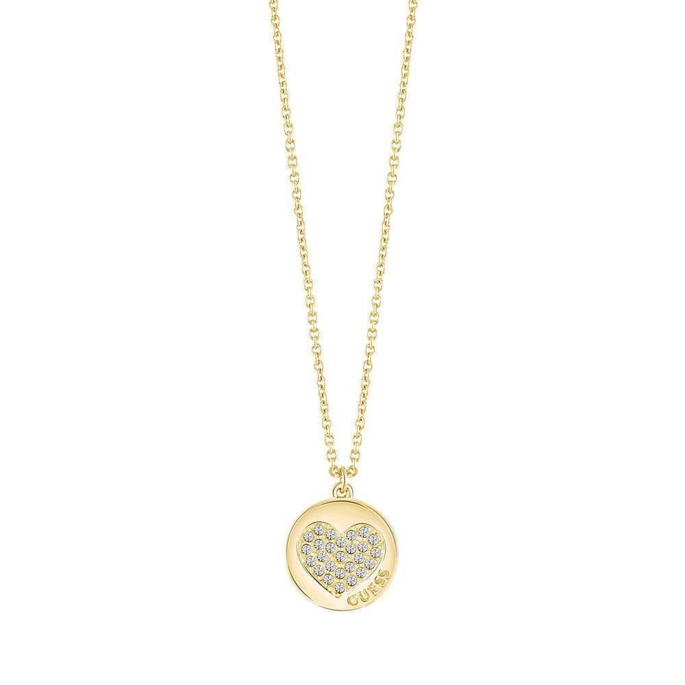 Guess Ketting Heart Devotion goudkleurig UBN82051