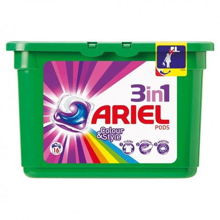 Ariel 3in1 Pods Wasmiddel 16 gekleurde wasbeurten