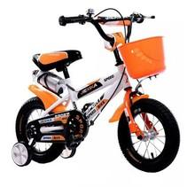 BMX kinderfiets 12 inch wit-oranje