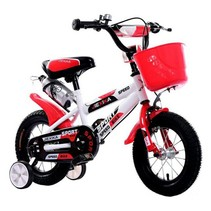 BMX kinderfiets 12 inch wit-rood