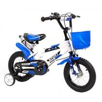 BMX kinderfiets 12 inch wit-blauw