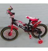 BMX kinderfiets 16 inch zwart-rood