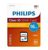 Philips Class 10 SDHC 16 GB geheugenkaart FM16SD45B