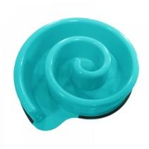 Spiral slow feeding bowl