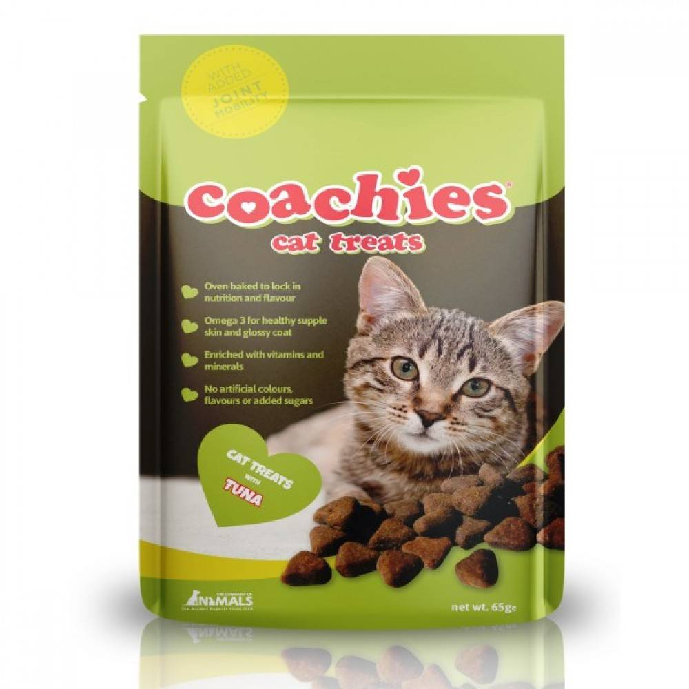 Coachies Coachies cat treats tuna jont- mobility (65g) TCCT